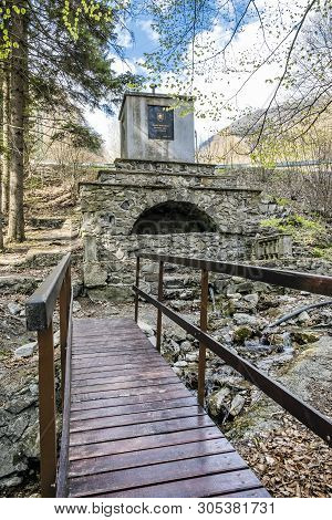 Spring Of Nitra River, Slovak Republic. Travel Destination. Natural Scene.