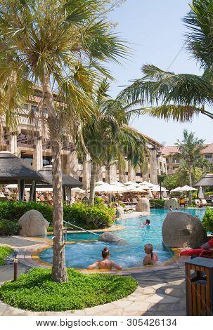 Dubai, Uae, United Arab Emirates - 29 May, 2019: Pool Of The Sofitel On The Palm Jumeirah Hotel