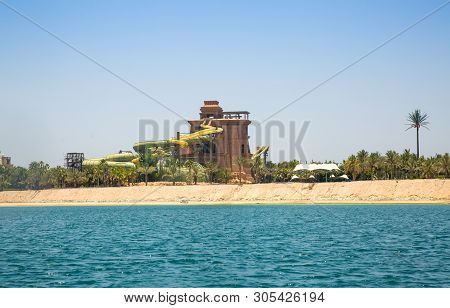 Dubai, Uae, United Arab Emirates - 29 May, 2019: Poseidon Tower In The Atlantis Adventure Water Park