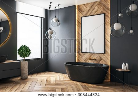 Modern Bathroom With Poster