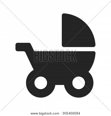 Baby Stroller Icon Isolated On White Background. Baby Stroller Icon In Trendy Design Style. Baby Str