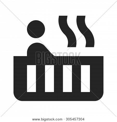 Bathtub Icon Isolated On White Background. Bathtub Icon In Trendy Design Style. Bathtub Vector Icon