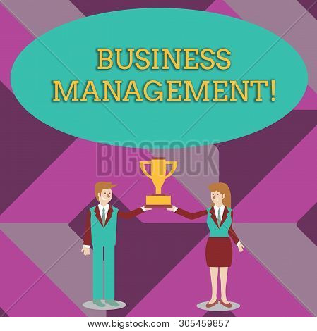Writing Note Showing Business Management. Business Photo Showcasing Overseeing Supervising Coordinat