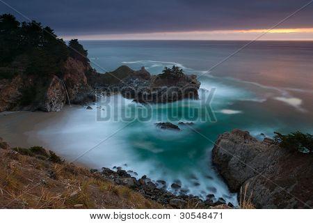 Pacific coastline.