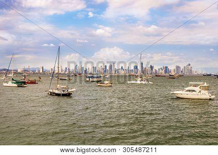View  At The Panama City From Peninsula Bahia Panama