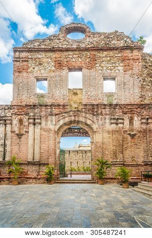 Santo Domingo Convent In Old District (casco Viejo) Of Panama City, Panama