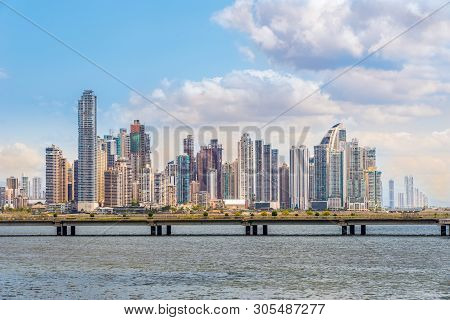 View At The Downtown Of Panama City From Old District (casco Viejo), Panama
