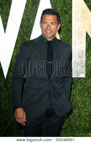 LOS ANGELES - FEB 26:  Mark Consuelos arrives at the 2012 Vanity Fair Oscar Party  at the Sunset Tower on February 26, 2012 in West Hollywood, CA