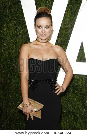 LOS ANGELES - FEB 26:  Olivia Wilde arrives at the 2012 Vanity Fair Oscar Party  at the Sunset Tower on February 26, 2012 in West Hollywood, CA