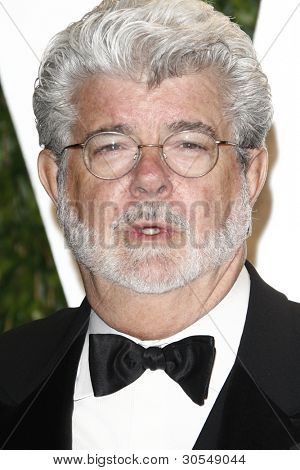 LOS ANGELES - FEB 26:  George Lucas arrives at the 2012 Vanity Fair Oscar Party  at the Sunset Tower on February 26, 2012 in West Hollywood, CA