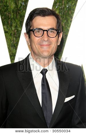 LOS ANGELES - FEB 26:  Ty Burrell arrives at the 2012 Vanity Fair Oscar Party  at the Sunset Tower on February 26, 2012 in West Hollywood, CA
