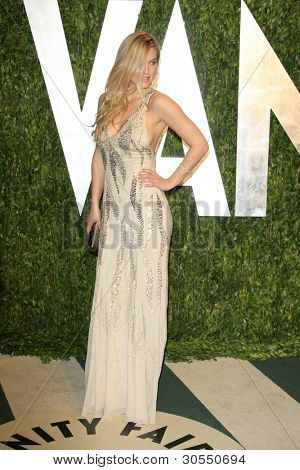 LOS ANGELES - FEB 26:  Bar Refaeli arrives at the 2012 Vanity Fair Oscar Party  at the Sunset Tower on February 26, 2012 in West Hollywood, CA