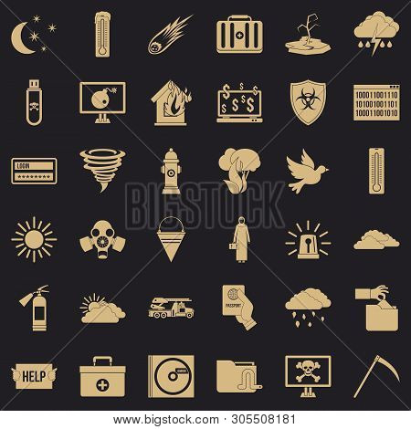Origin Icons Set. Simple Set Of 36 Origin Vector Icons For Web For Any Design