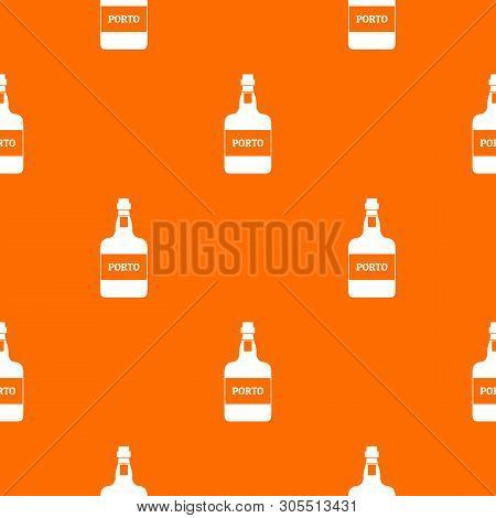 Port Wine Pattern Vector Orange For Any Web Design Best