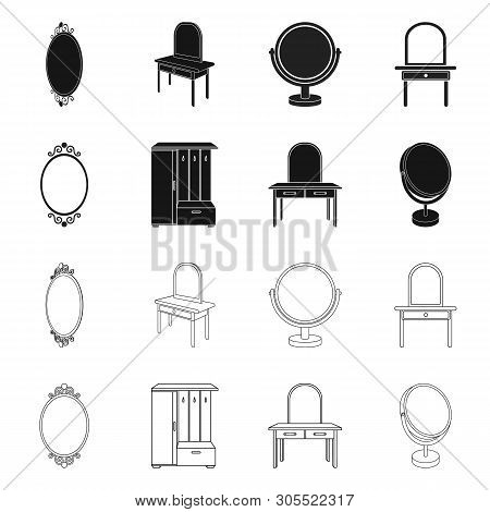 Vector Design Of Imagery And Decorative Symbol. Collection Of Imagery And Silver Stock Symbol For We