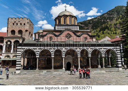 Rila, Bulgaria - May 3, 2019: Rila Monastery, Bulgaria. The Rila Monastery Is The Largest And Most F