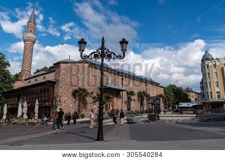 Plovdiv, Bulgaria -may 6, 2019: Djumaya Mosque Or Ulu Mosque, Is A Precious Architectural Monument I