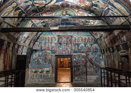 Arbanasi, Bulgaria - 8 May, 2019: Ancient Murals Inside The Nativity Of Christ Church, 16th - 17th C