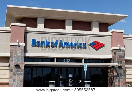 Las Vegas - Circa June 2019: Bank Of America Bank And Loan Branch. Bank Of America Is Also Known As