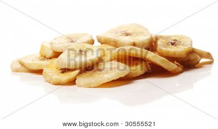Close up of Dried banana slices