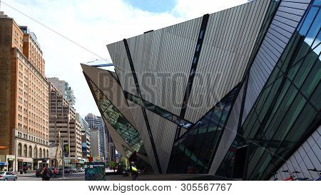 Toronto, Ontario/canada - April 20: The Front Of The Royal Ontario Museum , [april 20, 2018] In [tor