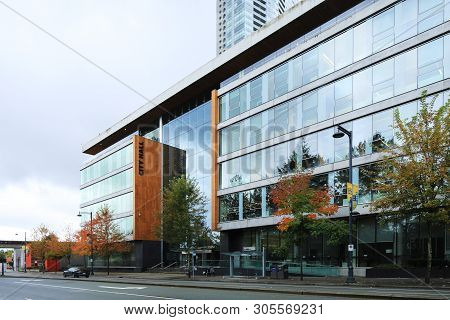 Surrey, British Columbia/canada - October 22: A View Of The City Hall, [october 22, 2018] In [surrey