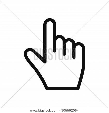 Hand Cursor Icon Isolated On White Background. Hand Cursor Icon In Trendy Design Style. Hand Cursor