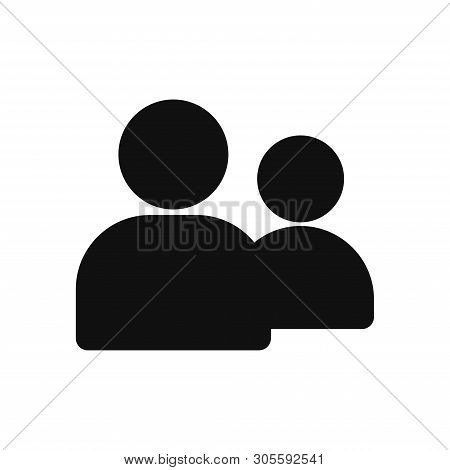 People Icon Isolated On White Background. People Icon In Trendy Design Style. People Vector Icon Mod