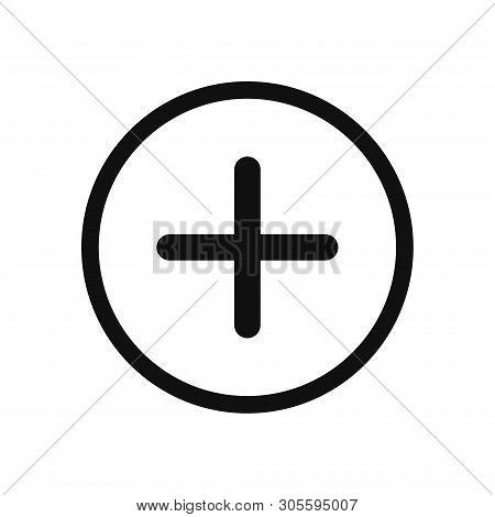 Plus Icon Isolated On White Background. Plus Icon In Trendy Design Style. Plus Vector Icon Modern An