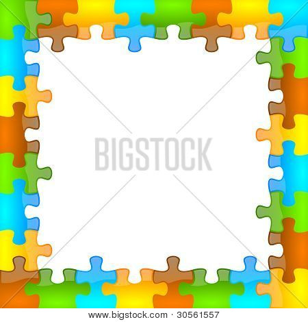 Color and glossy puzzle frame 8 x 8