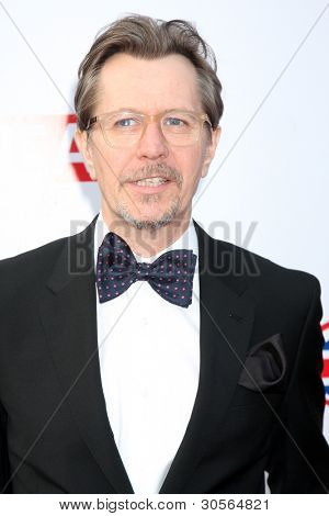 LOS ANGELES - FEB 24:  Gary Oldman arrives at the GREAT British Film Reception at the British Consul General's Residence on February 24, 2012 in Los Angeles, CA.