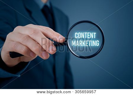 Marketing Specialist Focused On Content Marketing. Interesting Content Is Important For Successful C