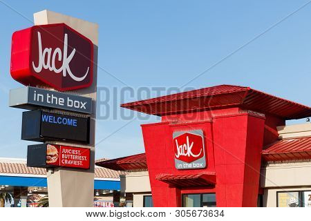 Las Vegas - Circa June 2019: Jack-in-the-box Fast Food Restaurant. Jack-in-the-box Is Famous For Its