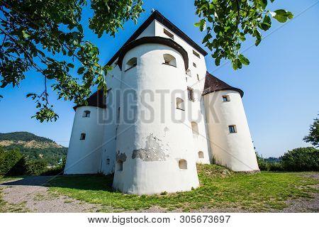 Banska Stiavnica, Slovakia - August 06, 2015: New Castle  - Built In 1571 Building - Called Also Fra