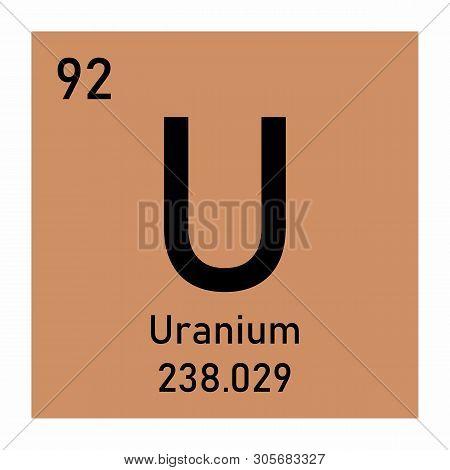 Illustration Of The Periodic Table Uranium Chemical Symbol