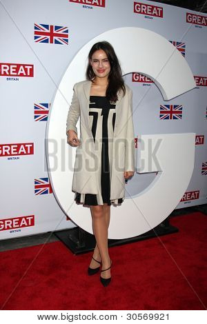 LOS ANGELES - FEB 24:  Sophie Winkleman arrives at the Great British Film Reception at the British Consul General's Residence on February 24, 2012 in Los Angeles, CA.