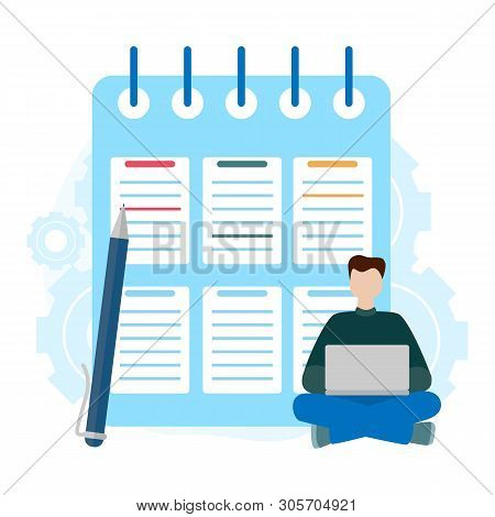 Checklist Clipboard. Successful Completion Of Business Tasks. Questionnaire, Survey, Task List.