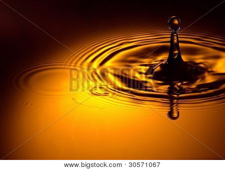 gold waterdrop