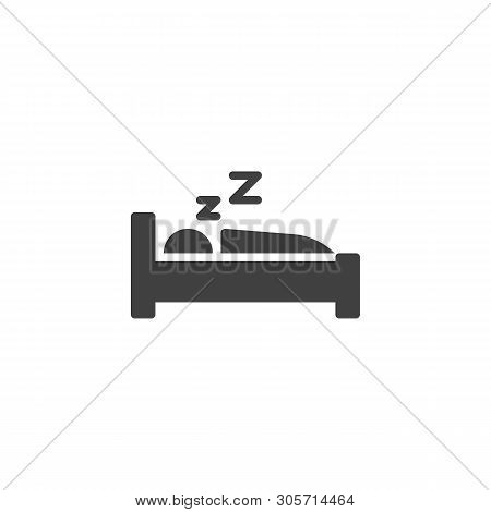 Deep Sleep, Man Sleeping Vector Icon. Filled Flat Sign For Mobile Concept And Web Design. Sleeping B