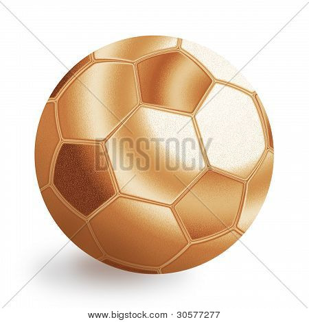 Bronze Football Ball