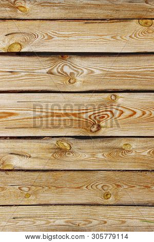 Abstract Wooden Background. Cropped Shot Of Wooden Fence. Wooden Texture. Background With A Lot Of C