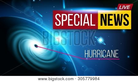 Creative Illustration Of Realistic Hurricane Cyclone Wind, Tropical Typhoon Spiral Storm, Spin Vorte