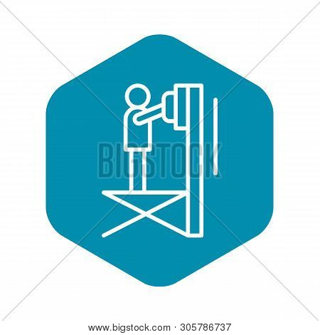 Scissor Lift Platform Icon. Outline Illustration Of Scissor Lift Platform Vector Icon For Web Design