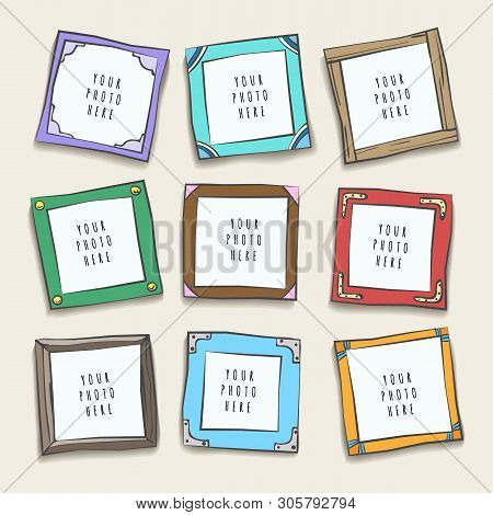 Wall Collage Picture Frames. Photographing Frame Layout, Pictures Or Photo Frames Gallery Design, Ni