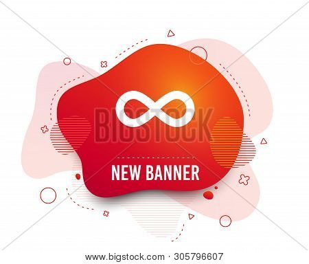 Fluid Badge. Limitless Sign Icon. Infinity Symbol. Abstract Shape. Gradient Limitless Icon. Flyer Li
