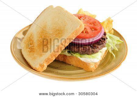 Home Cook Hamburger On Toast