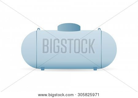 Propane gas tank icon. Clipart image isolated on white background