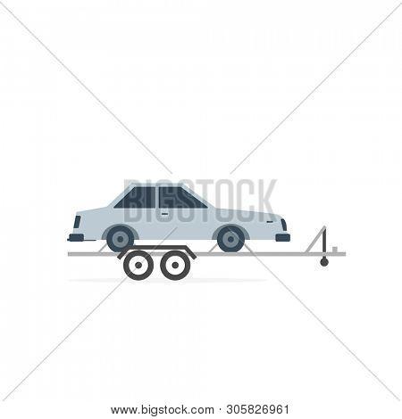 Car Hauler icon. Clipart image isolated on white background
