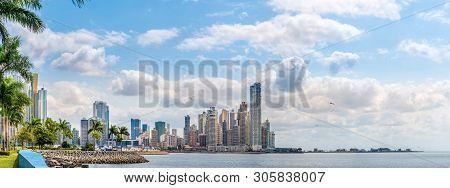 Panoramic View At The Downtown Of Panama City, Panama