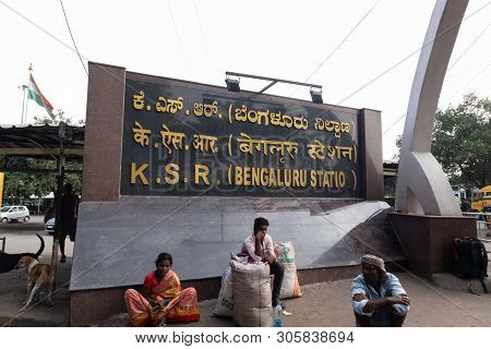 Bengaluru, India - June 03,2019 : Unidentified People Waiting For The Train At Bangalore Railway Sta